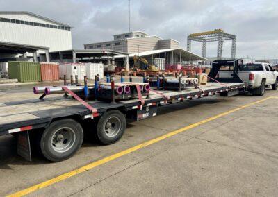hot shot truck and trailer
